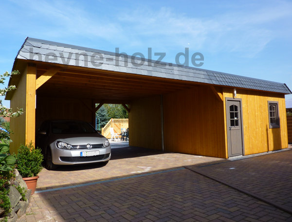 doppelcarport mit schuppen bauservice galerie. Black Bedroom Furniture Sets. Home Design Ideas